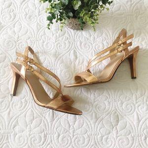 NWOB Naturalizer Kalya Rose Gold Strappy Heels 12